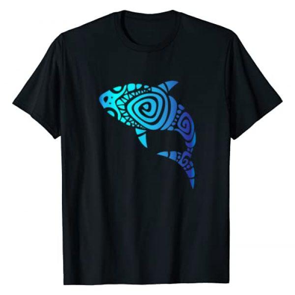 Cool Hawaiian Tribal Shirts for Beach Lovers Graphic Tshirt 1 Hawaii Mano Tribal Shark Shirt. Shark Lover Week