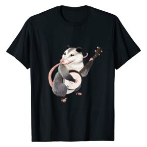 Possum Possible Graphic Tshirt 1 Banjo playing possum musician T-Shirt