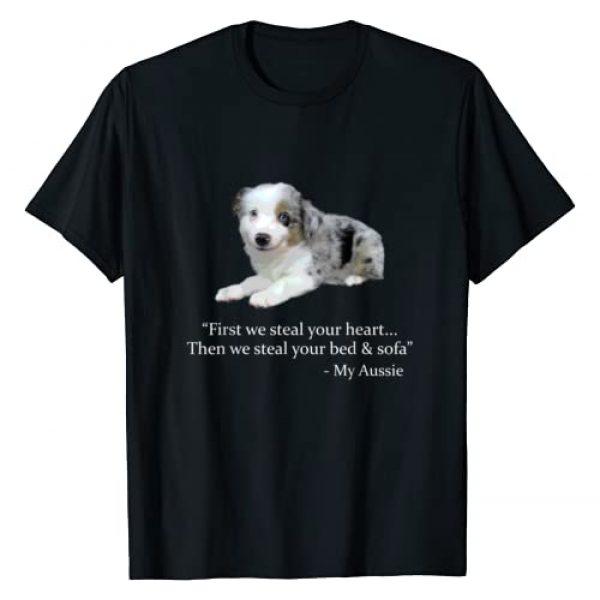 australian shepherd gifts Graphic Tshirt 1 Cute Australian Shepherd Puppy Gift Adorable Shepard T-Shirt