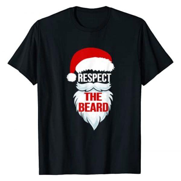 Christmas Tee Graphic Tshirt 1 Respect The Beard Santa Claus Christmas Xmas Gifts Men Dad T-Shirt