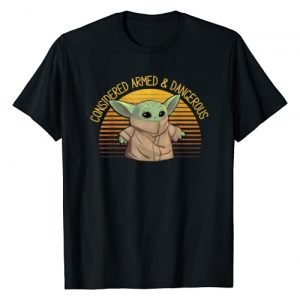 Star Wars Graphic Tshirt 1 The Mandalorian The Child Armed & Dangerous T-Shirt