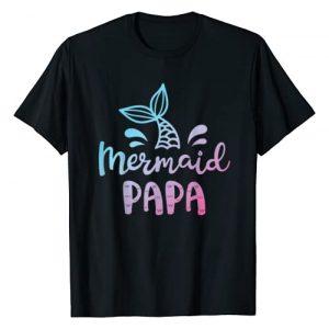 Mermaid Squad Co Graphic Tshirt 1 Mermaid Papa Funny Merman Dad Daddy Family Matching Birthday T-Shirt