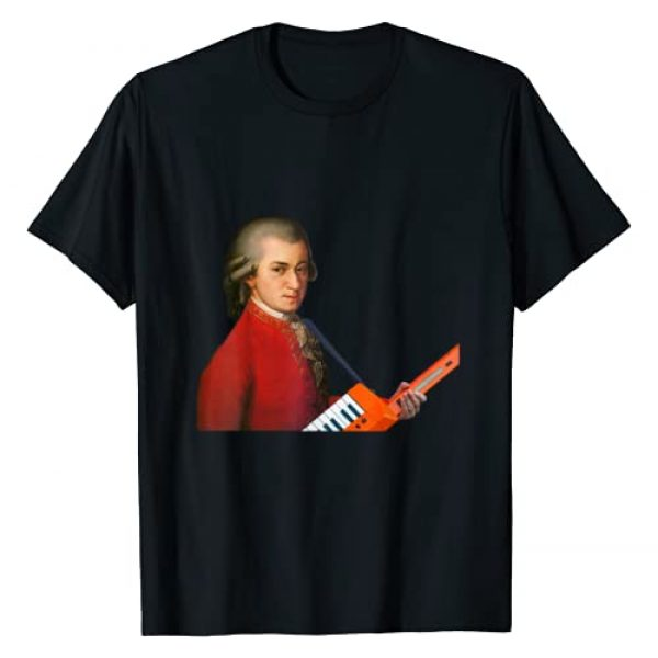 Post Hip Graphic Tshirt 1 Wolfgang Amadeus Mozart with a keyboard guitar T-Shirt