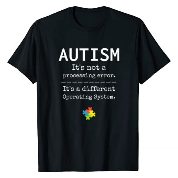 Autism Awareness Graphic Tshirt 1 It's a Different Operating System T-Shirt