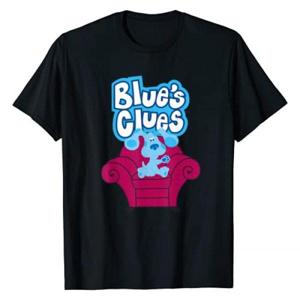 Blues Clues Graphic Tshirt 1 Blue's Clues On Red Sofa T-Shirt