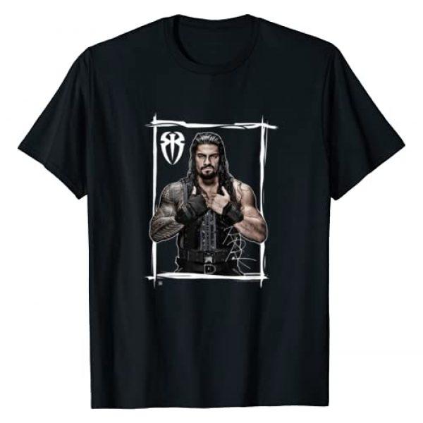 WWE Graphic Tshirt 1 Roman Reigns Black White T-Shirt