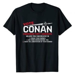 Original T-shirts Graphic Tshirt 1 Vote Conan - Conan for President Funny T-shirt