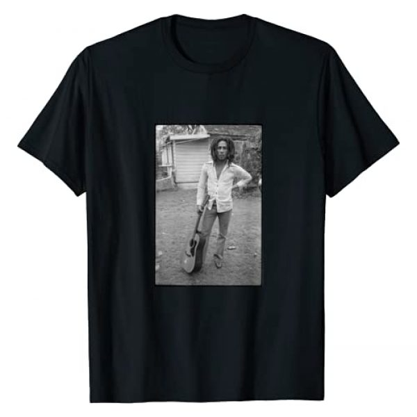 Bob Marley Graphic Tshirt 1 x David Burnett Guitar Photo T-Shirt