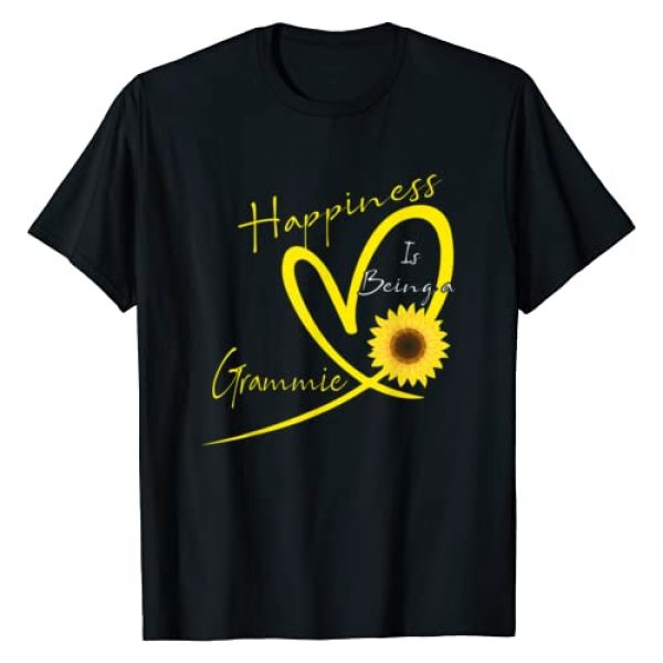Love Grammie Funny Shirt Graphic Tshirt 1 Happiness Is Being A Grammie Sunflower Heart T-Shirt