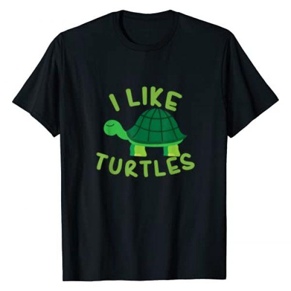 UAB KIDKIS Graphic Tshirt 1 I like Turtles Tortoise Sea Animal Funny Gift T-Shirt
