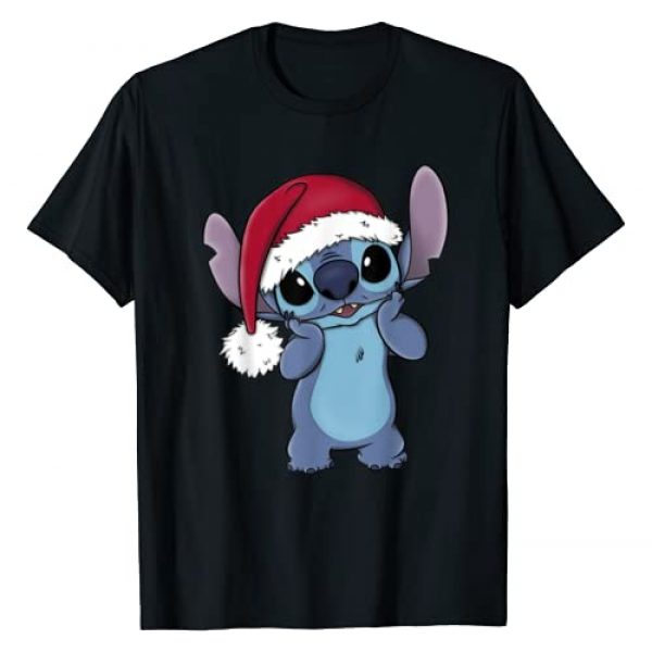 Disney Graphic Tshirt 1 Lilo & Stitch Christmas Santa Hat Stitch Portrait T-Shirt