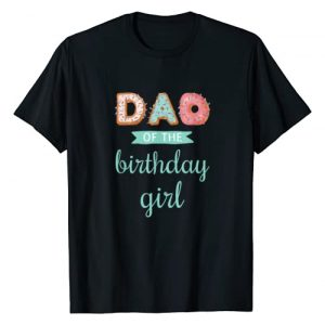 "Donut party t shirt Graphic Tshirt 1 ""Dad of the Birthday Girl""- Family Donut Birthday T-Shirt"