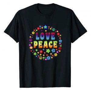 Peace Sign Love T Shirt Graphic Tshirt 1 | 70s Hippie Costume T Shirt