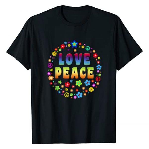Peace Sign Love T Shirt Graphic Tshirt 1   70s Hippie Costume T Shirt