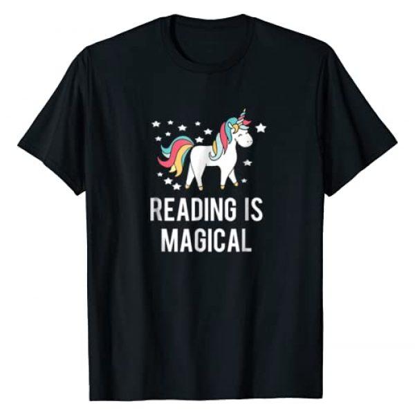 Magical Teacher Unicorn Shirts Graphic Tshirt 1 Reading Is Magical Unicorn Shirt To Promote Reading