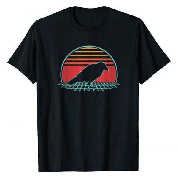 Retro Vintage Raven Crow 70s 80s Gift Graphic Tshirt 1 Raven Retro Vintage Crow 80s Style Bird Lover Gift T-Shirt