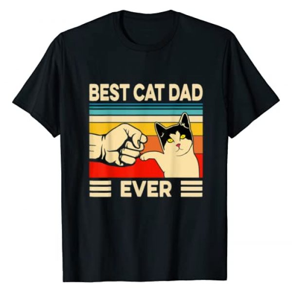 Best Cat Dad Ever T-Shirt Cat Dad By Lincoln Co. Graphic Tshirt 1 Best Cat Dad Ever T-Shirt Funny Cat Dad Father Vintage Gift T-Shirt