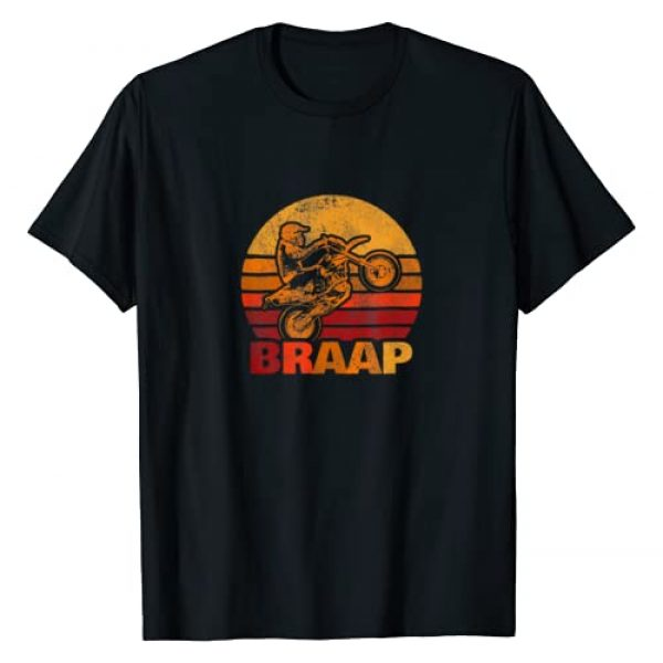 Braap Dirt Bike Gifts Graphic Tshirt 1 Retro Braap Motocross Dirt Bike Motorcycle T-Shirt