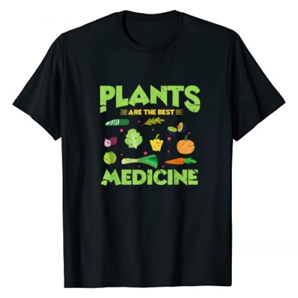 Plants Are The Best Medicine Shirt Graphic Tshirt 1 Funny Vegan Vegetarian T-Shirt