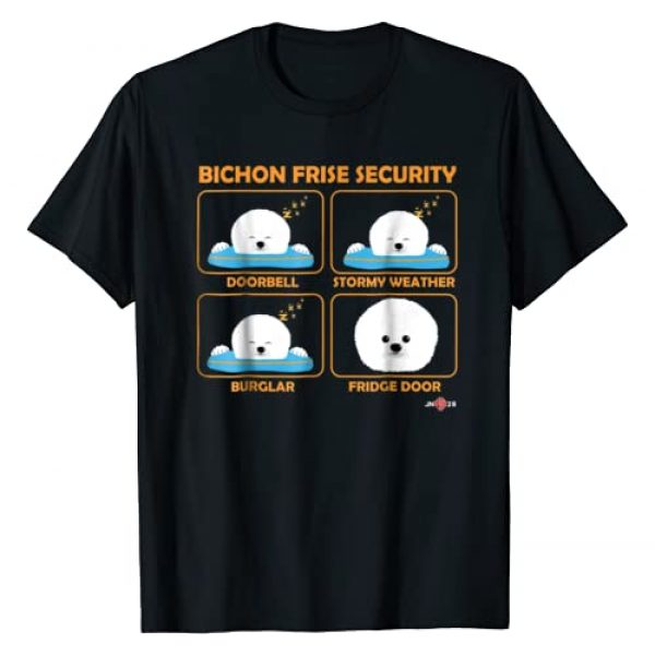 Funny Bichon Frise Apparel by ToonTyphoon Graphic Tshirt 1 Bichon Frise shirt | Bichon Frise Security