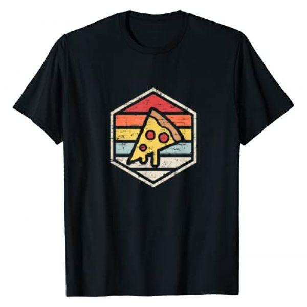 M&L Retro Foodie Apparel Graphic Tshirt 1 Retro Pizza   Junk Food T Shirt T-Shirt