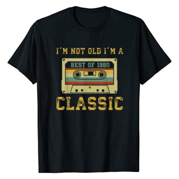 BORN Graphic Tshirt 1 Vintage Cassette I'm Not Old I'm A Classic 1980 39th T-Shirt