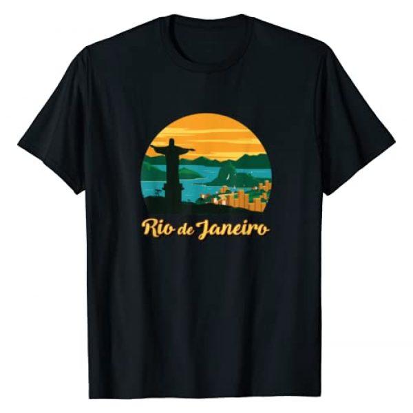 Brazil Retro Apparel Graphic Tshirt 1 Rio De Janeiro Brazil Beach Surf Ocean Brazilian Island Bay T-Shirt