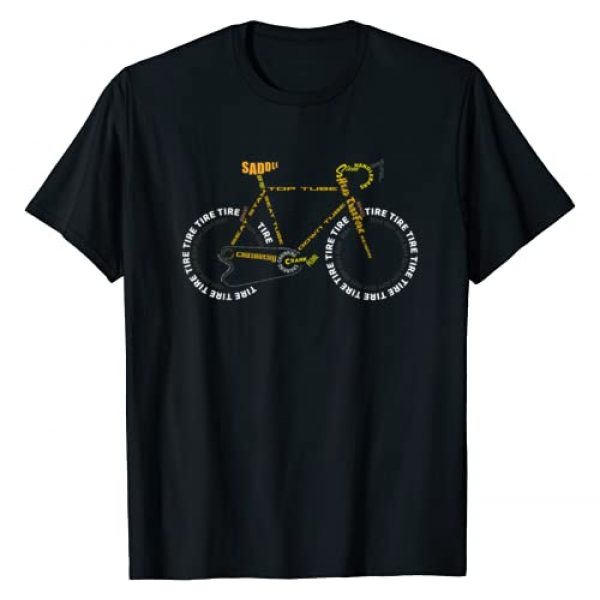 Cool I Love Road Bikes Design T-Shirts 11 Graphic Tshirt 1 Bicycle Anatomy Shirt | Cute Cycling Is Life T-Shirt Gift
