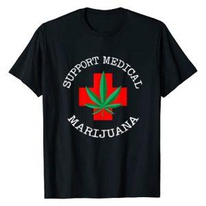 Marijuana Clothing & Gifts Graphic Tshirt 1 Support Medical Marijuana - Cannabis Pot Leaf T-Shirt