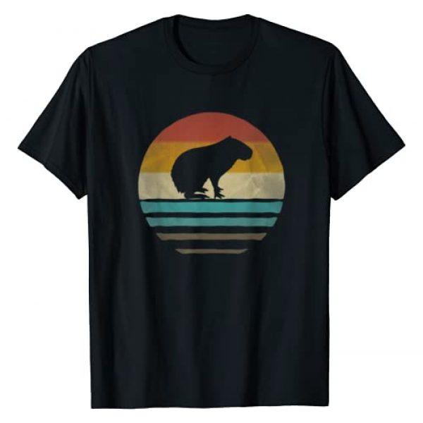 Merchalize Graphic Tshirt 1 Capybara Shirt Retro Vintage 70s Silhouette Distressed Gift