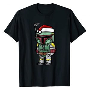 Star Wars Graphic Tshirt 1 Boba Fett Santa Hat Cartoon Christmas T-Shirt