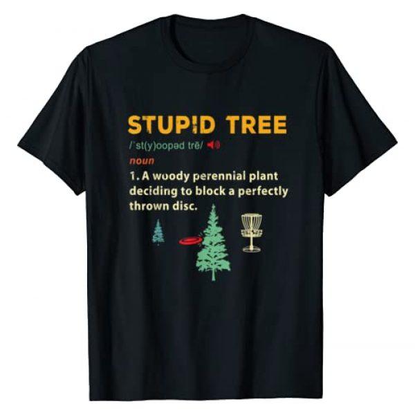 Frisbee Golfer | Frisbee Golf Humor Boys Mens Gift Graphic Tshirt 1 Stupid Tree Disc Golf Frisbee Golfing Sports Funny Gifts T-Shirt