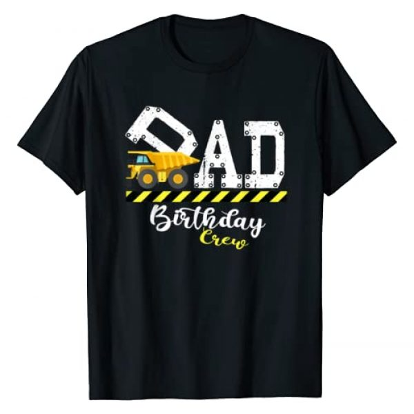 Matching Family Birthday Gifts By IR&A Squad Graphic Tshirt 1 B-Day Party Dad Birthday Crew Construction Birthday Party T-Shirt