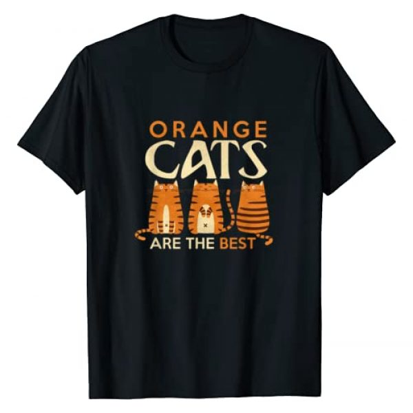 Cat Mom Tees Graphic Tshirt 1 Funny Orange Cats are the best cat mom T Shirt T-Shirt