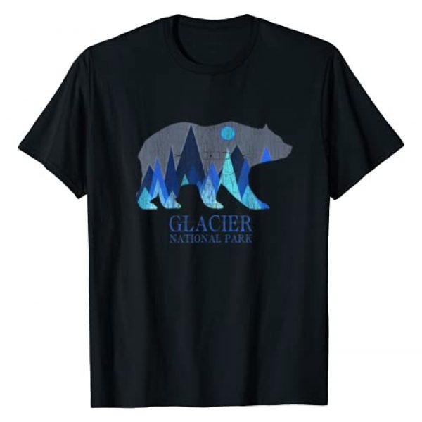 Glacier Grizzly Bear Tsunrisebey Graphic Tshirt 1 Retro Glacier Grizzly Bear Glacier National Park T-Shirt