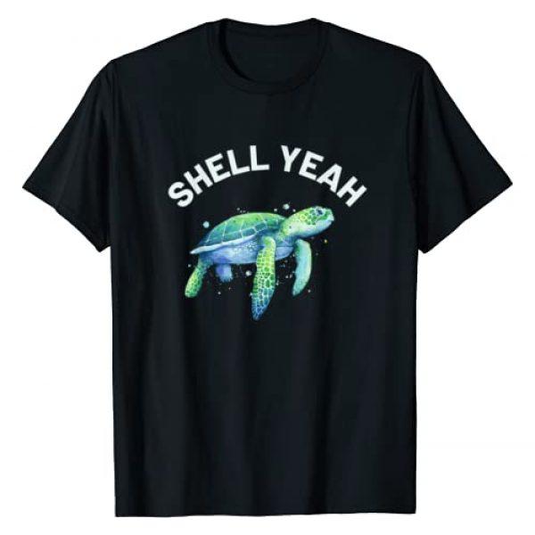 Beach Lover & Turtle Lover Shirts Graphic Tshirt 1 Shell Yeah - Cute Tortoise & Sea Turtle Lover T-Shirt