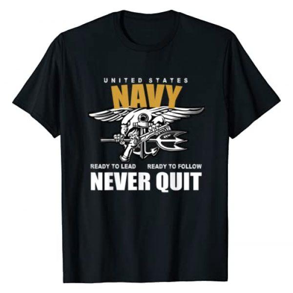 NAVY Graphic Tshirt 1 U.S. NAVY NEVER QUIT PROUD SEALS TEAM T-SHIRT