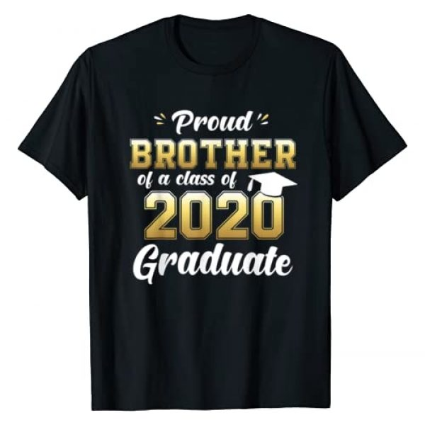 Funny Graduation 2020 Shirts Proud Family Gifts Graphic Tshirt 1 Proud Brother of a Class of 2020 Graduate Shirt Senior Gift T-Shirt