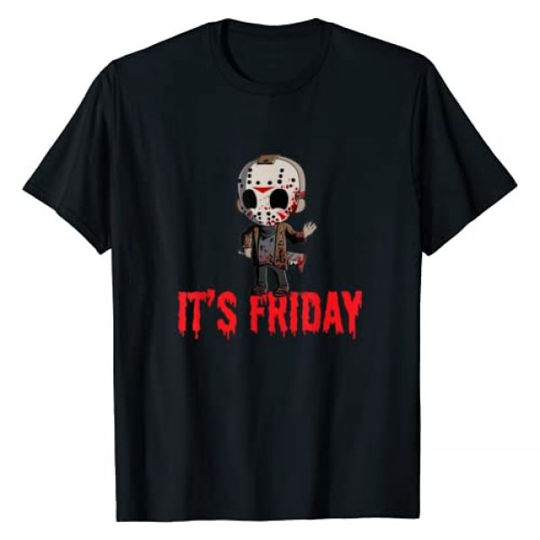 Fun and Easy Halloween Tee Graphic Tshirt 1 Humorous It's Friday Funny Halloween Horror T-Shirt