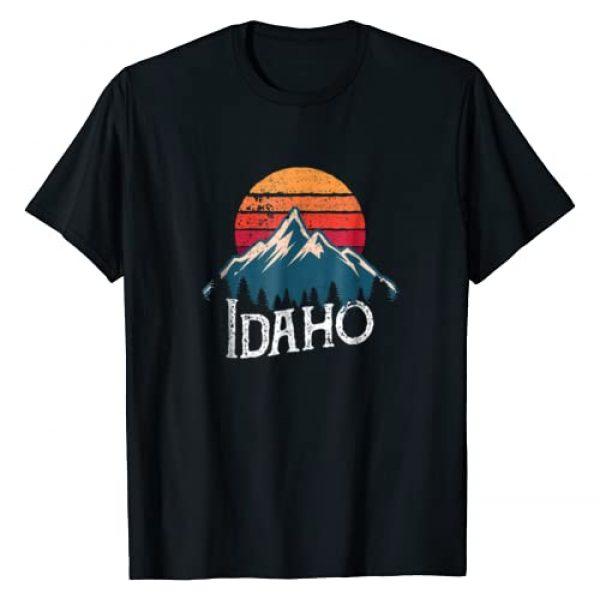 Vintage Retro Idaho Tee Shirts Graphic Tshirt 1 Vintage Idaho ID Mountains Outdoor Wildness Retro T-Shirt