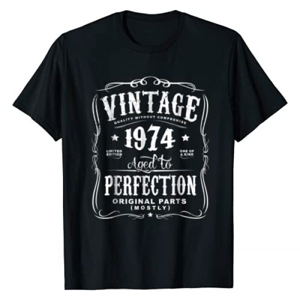 AGED TO PERFECTION Graphic Tshirt 1 Vintage Made In 1974 T-Shirt 44th Birthday Gift