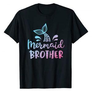 Mermaid Squad Co Graphic Tshirt 1 Mermaid Brother Funny Merman Family Matching Birthday Gifts T-Shirt