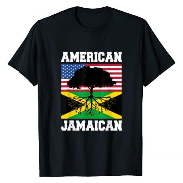 Jamaica Pride . Graphic Tshirt 1 Jamaica Usa Flag Jamaican Roots American Born America
