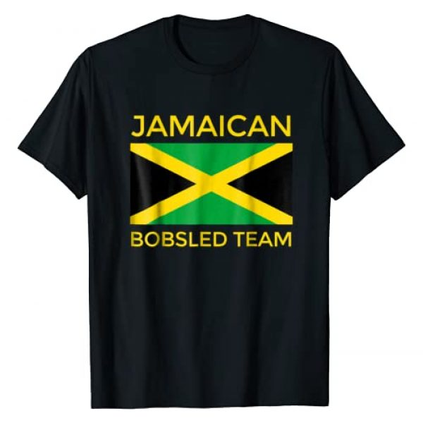 Jamaican Bobsled Team Shirt Graphic Tshirt 1 Jamaican Flag Bobsled T-Shirt
