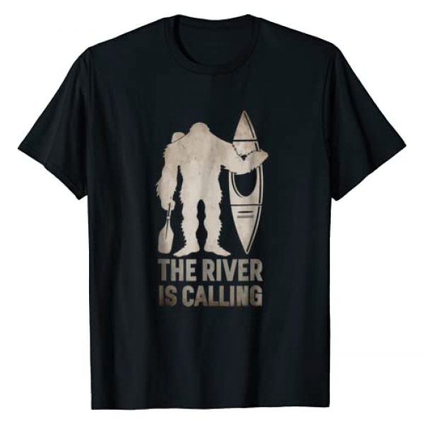 Sasquatch Threads Graphic Tshirt 1 Bigfoot River Kayak T-Shirt | Sasquatch Camping Canoe Gift