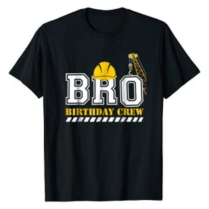 Construction Birthday Party Shirts Graphic Tshirt 1 Brother Birthday Crew Construction Birthday Party T-Shirt