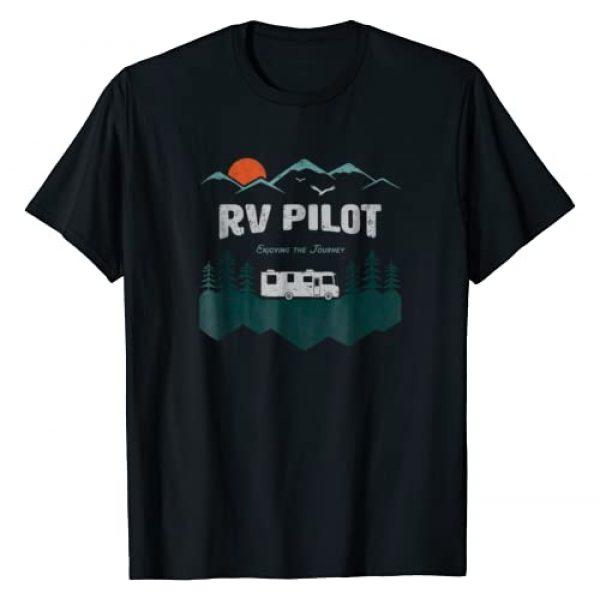 Matching Couples Camping Shirts Graphic Tshirt 1 RV Pilot Camping Shirt Motorhome Travel Vacation Gift