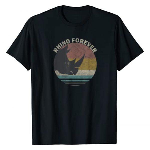 Vintage Rhino gift tee - rhino forever shirt Graphic Tshirt 1 Vintage Rhino gift tee - Rhino Spirit Animal T-Shirt