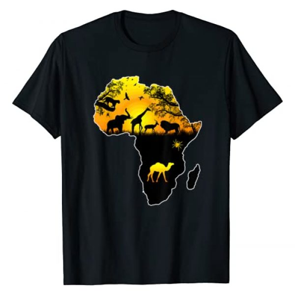 African Pride Teez Graphic Tshirt 1 African Savannah safari wildlife Africa map t-shirt