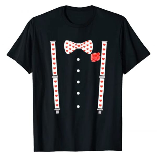Womens & Mens Valentines Day Gift Co. Graphic Tshirt 1 Bow Tie & Suspenders Hearts Valentine's Day Men Women Kids T-Shirt
